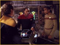 O'Brien, Sisko et Jake